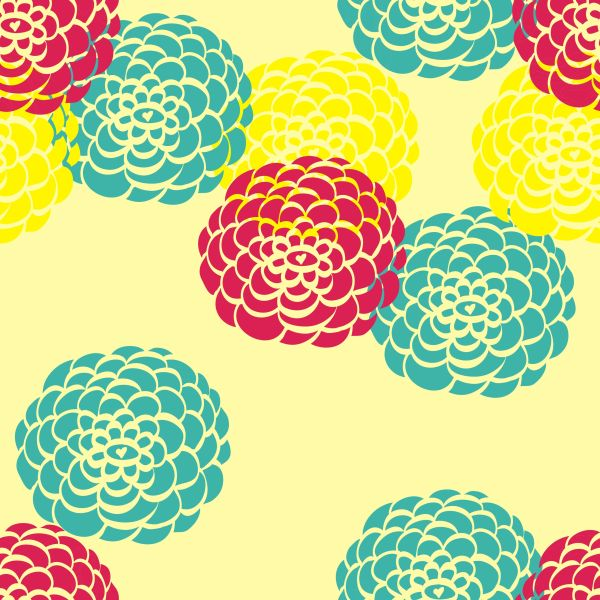 Floral Pattern Digitally Printed