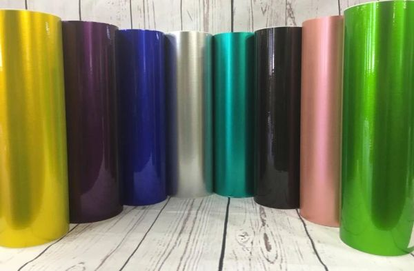 "12"" Purple Polished Metal Adhesive Vinyl"