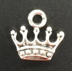 Princess Crown Charm Tibetan Silver Metal