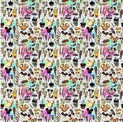Theme Park Inspired Pattern Digitally Printed