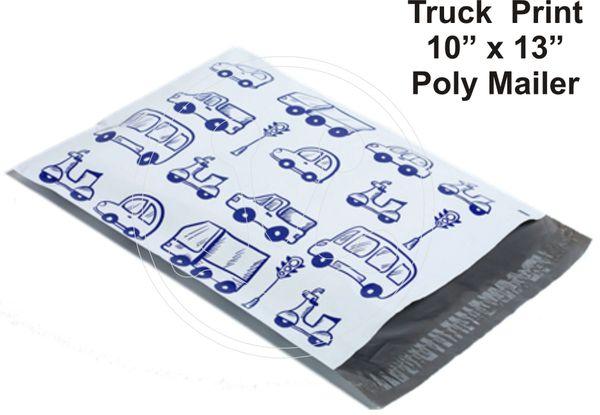 "Trucks Print Poly Mailers 10"" x 13"""