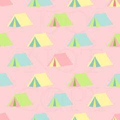 Camping Pattern Digitally Printed