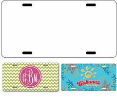 Single Sublimation License Plate Blanks