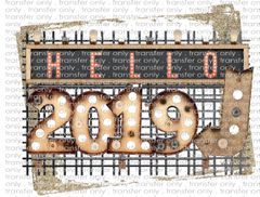 Sublimation Transfer - New Year's 2019
