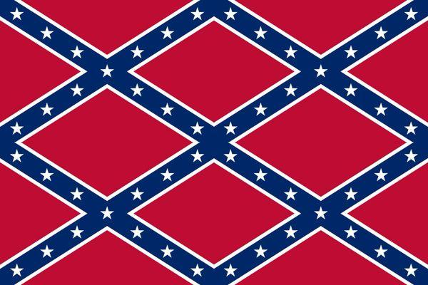 Confederate Flag Vinyl Pattern 3
