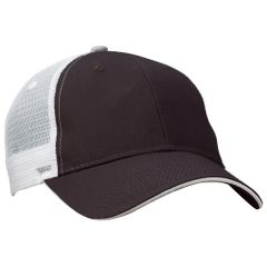 Mesh Back Sandwich Cap - Mid Profile - Charcoal/White