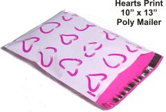 "Hearts Print Poly Mailers 10"" x 13"""
