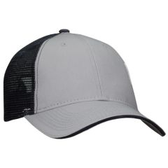 Mesh Back Sandwich Cap - Mid Profile - Grey/Navy