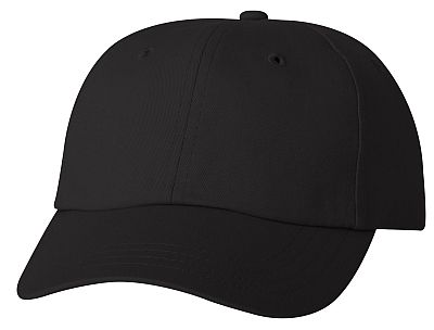 Cotton/Twill Cap - Low Profile - Black
