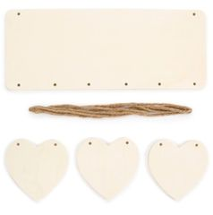 Craftwood Hanging Plaque - Rectangle with Hearts - Makes 1
