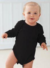 Infant Body Suit - Creeper - Long Sleeve - Black
