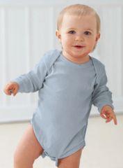 Infant Body Suit - Creeper - Long Sleeve - Light Blue