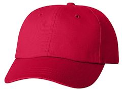 Cotton/Twill Cap - Low Profile - Red
