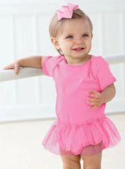 Infant Body Suit - Creeper - Tutu - Raspberry