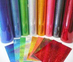 Red - Fantasy FIlms Outdoor Glitter Adhesive Vinyl