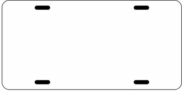 Blank - Sublimation License Plates - Blank White, No Printing