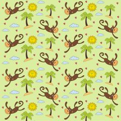 Monkey Pattern Digitally Printed Vinyl