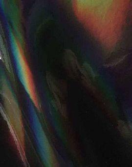 """12"""" Mirrored BLACK Rainbow - Oil Slick - Adhesive Vinyl"""