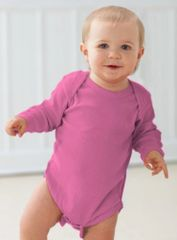 Infant Body Suit - Creeper - Long Sleeve - Raspberry