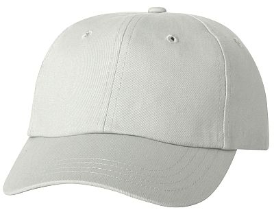 Cotton/Twill Cap - Low Profile - White