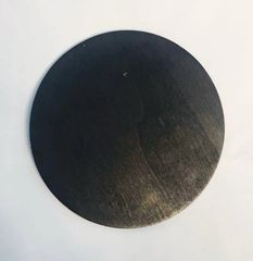 Black Pre-stained Wood Circle with Drilled Hanger Hole Vinyl Craft Blanks
