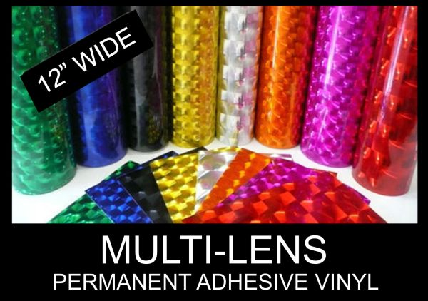 Holographic Multi Lens Adhesive Vinyl