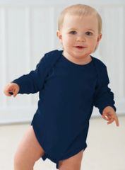 Infant Body Suit - Creeper - Long Sleeve - Navy