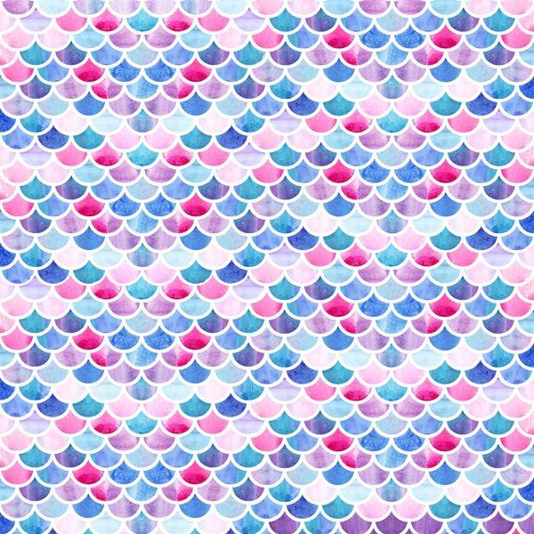 Mermaid Fish Scale Pattern Digitally Printed