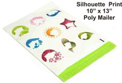 "Silhouette Print Poly Mailers 10"" x 13"""