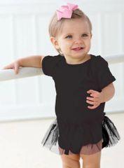 Infant Body Suit - Creeper - Tutu - Black