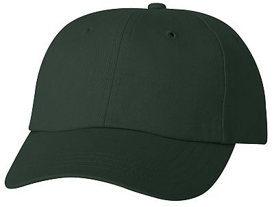 Cotton/Twill Cap - Low Profile - Forest Green