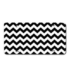 Black CHEVRON PRINT Heavy Plastic License Tag Blanks
