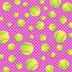 Softball Digitally Printed - Pattern 1
