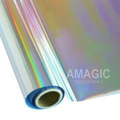Metallic Heat Transfer Foil - Holographic Rainbow Silver
