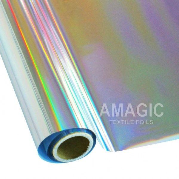 Metallic Heat Transfer Foil - Holographic Rainbow Silver