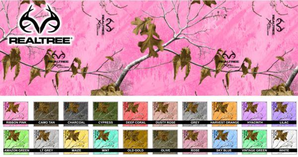 Realtree™ Camo Printed Pattern Vinyl - Choose Color