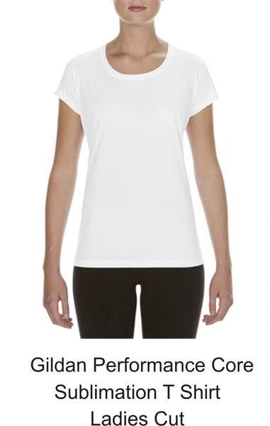 Sublimation Gildan Performance Ladies Core T Shirt
