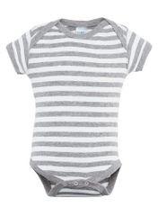Infant Body Suit - Creeper - Heather/White Stripe