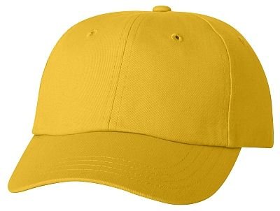 Cotton/Twill Cap - Low Profile - Yellow
