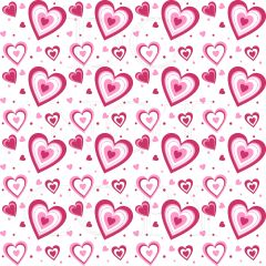 Valentines Pattern Digitally Printed