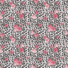 Animal Floral Pattern Digitally Printed