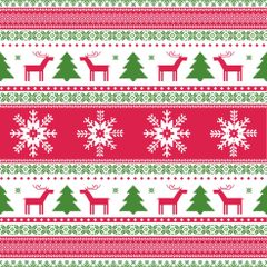 Ugly Christmas Sweater Pattern Digitally Printed