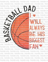 Sublimation Transfer - Basketball Dad