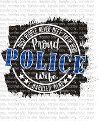 Sublimation Transfer - Police Wife
