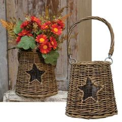 Glass/Willow Star Basket