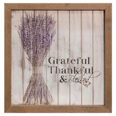 Grateful Framed Shiplap Sign, 10""