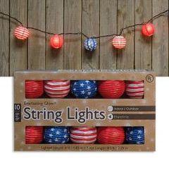 Patriotic Lantern Lights, 10 ct.