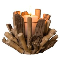 Driftwood votive holder