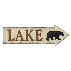 Lake & Bear Arrow Sign