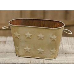 Cream Oval Bucket